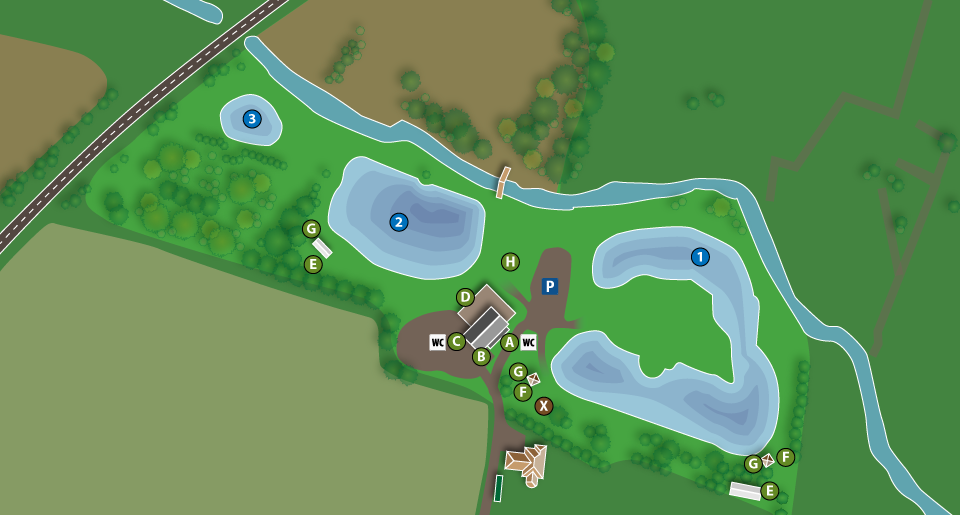 Kort over Filskov Fiskesø